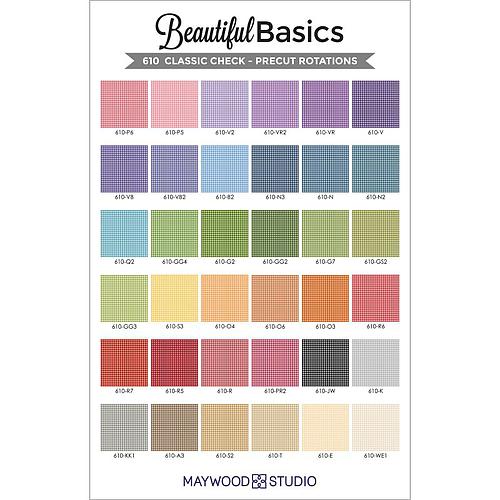"Beautiful Basics Classic Check, 5"" Charm Packs (42 pcs) by Maywood Studio"