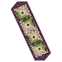 "Aubergine, Pre-cut Log Cabin Table Runner (13"" x 45"")"