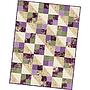 "Aubergine, Pre-cut Four Square Quilt (36"" x 48"")"