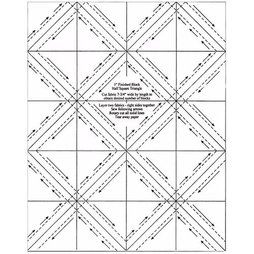 "1"" Finished Block Half-Square Triangles"